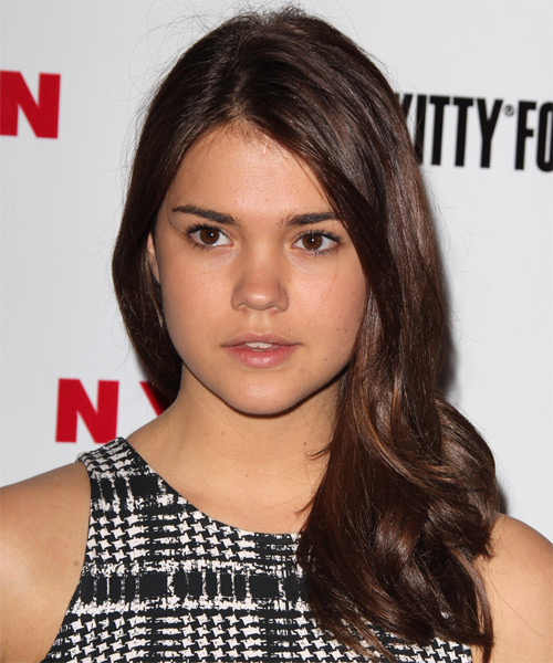 Maia Mitchell Long Straight Hairstyle - Medium Brunette (Chocolate)