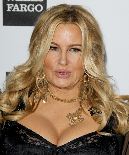 Jennifer Coolidge Long Wavy Hairstyle - Medium Blonde (Golden)
