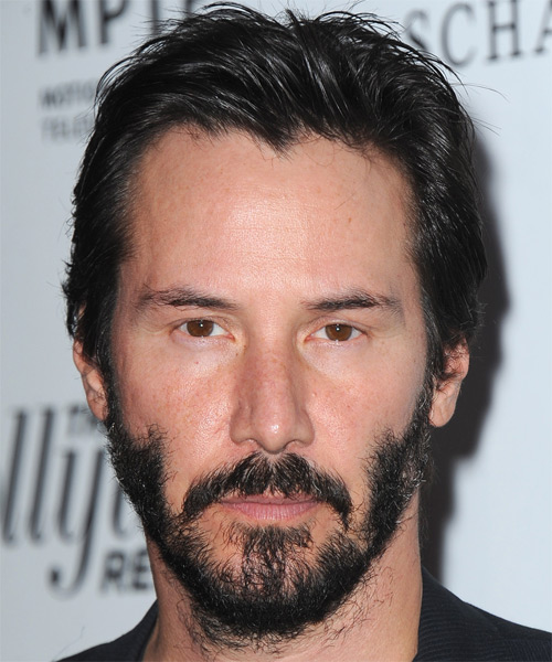 Keanu Reeves Short Straight Casual Hairstyle - Black Hair Color