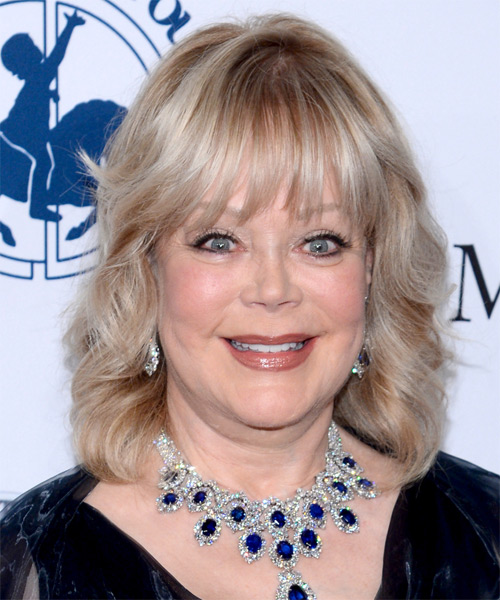 Candy Spelling Medium Wavy Formal Hairstyle