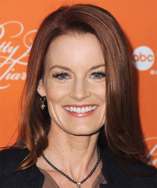 Laura Leighton Medium Straight Formal Hairstyle - Medium Red Hair Color