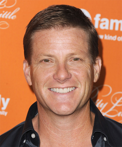 Doug Savant Short Straight Formal Hairstyle - Light Brunette Hair Color