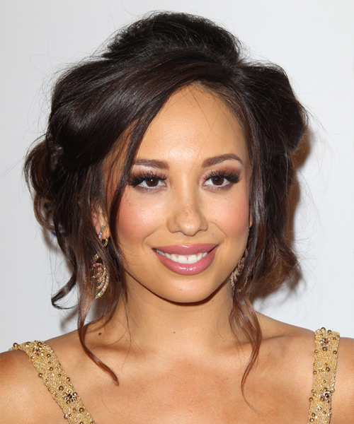 Cheryl Burke Curly Formal Updo Hairstyle - Medium Brunette (Mocha) Hair Color