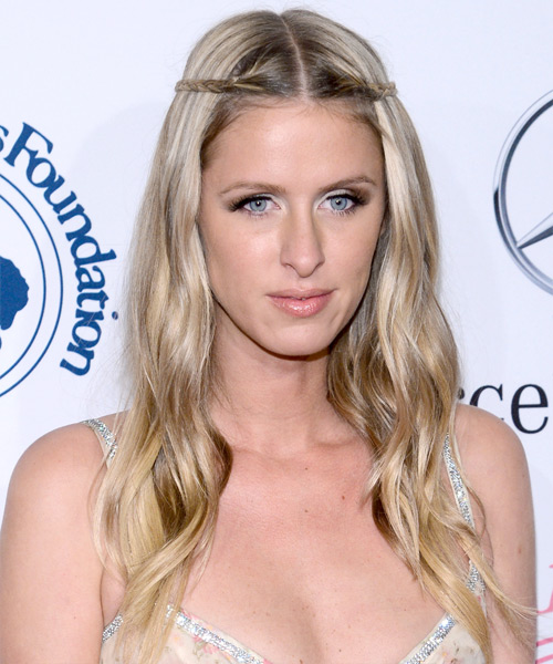 Nicky HIlton Long Straight Braided Hairstyle