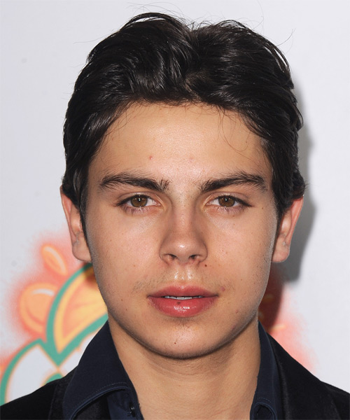 Jake T Austin Short Straight Hairstyle - Black