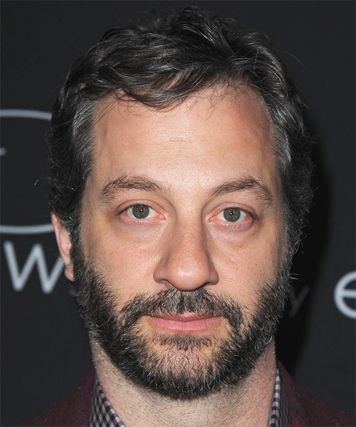 Judd Apatow Short Straight Hairstyle - Dark Grey