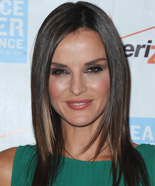 Ana Alexander Long Straight Formal Hairstyle - Dark Brunette Hair Color