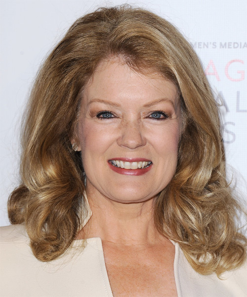 Mary Hart Medium Wavy Hairstyle - Medium Blonde (Golden)