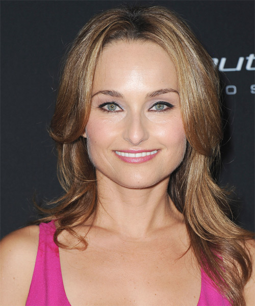 Giada De Laurentiis Long Straight Casual Hairstyle - Light Brunette (Caramel) Hair Color