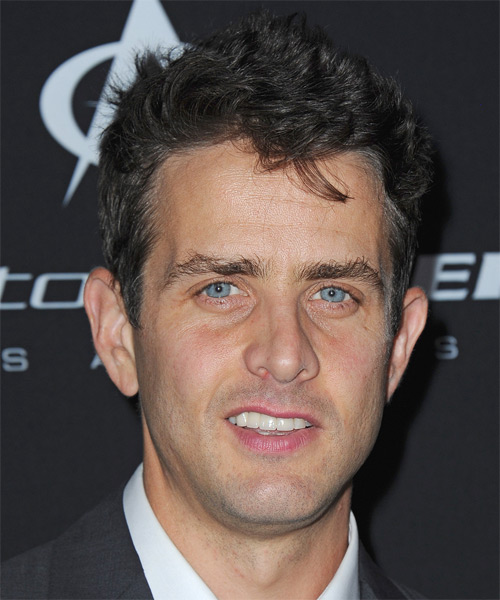 Joey McIntyre Short Straight Hairstyle - Dark Grey