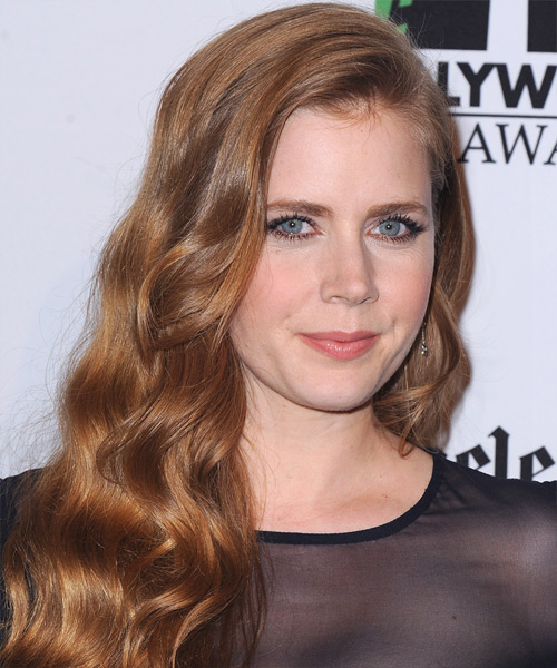 Amy Adams Long Wavy Casual Hairstyle - Medium Red (Strawberry) Hair Color