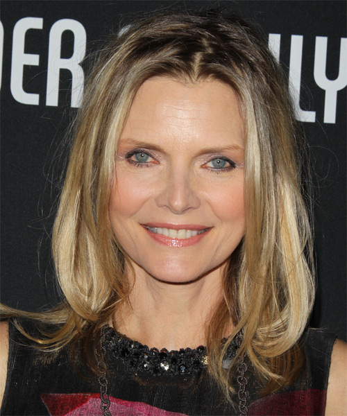 Michelle Pfeiffer - Casual Medium Straight Hairstyle