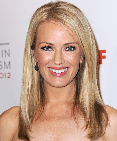 Brooke Anderson Long Straight Hairstyle - Dark Blonde (Golden)