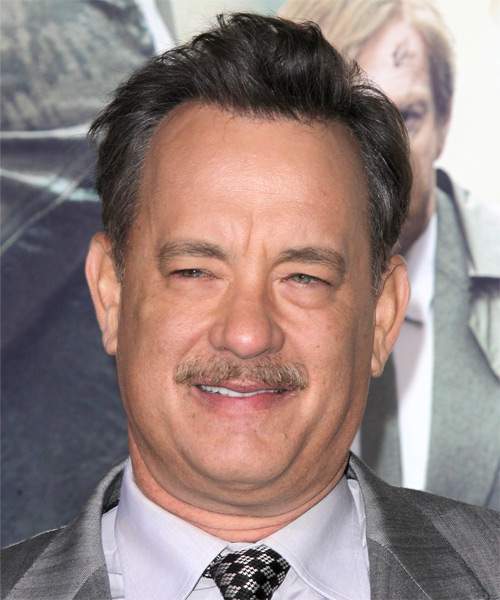Tom Hanks Short Straight Hairstyle - Dark Grey