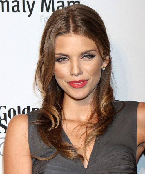 AnnaLynne McCord Long Straight Casual Hairstyle - Medium Brunette (Chestnut) Hair Color