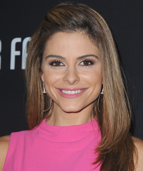Maria Menounos Long Straight Hairstyle - Medium Brunette (Chocolate)