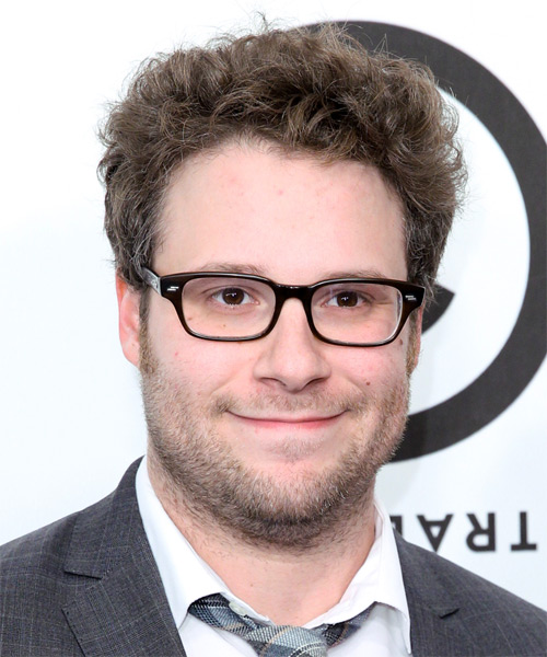 Seth Rogen Short Wavy Hairstyle - Medium Brunette (Chestnut)
