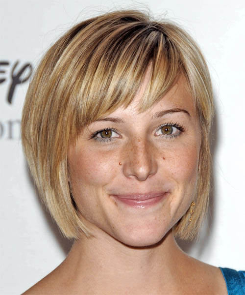 Cute Curled Below Chin A Line Bob � Short Jaw Length Asymmetrical Cropped A
