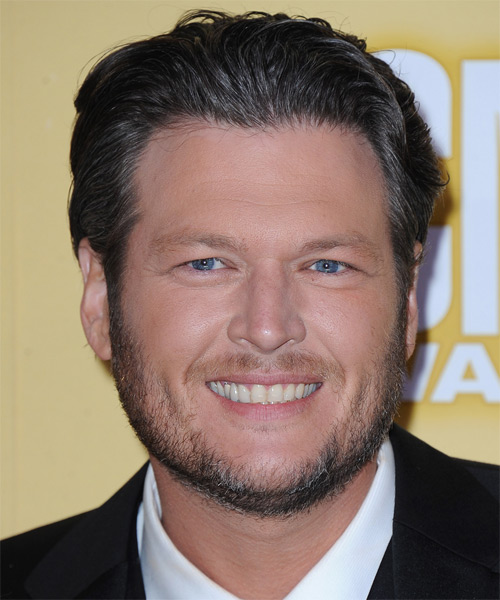 Blake Shelton Short Straight Formal Hairstyle - Medium Brunette (Ash) Hair Color