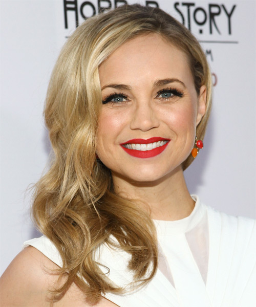 Fiona Gubelmann Long Wavy Casual Hairstyle - Medium Blonde (Golden) Hair Color