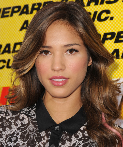 Kelsey Chow Long Wavy Formal Hairstyle - Medium Brunette (Chestnut) Hair Color