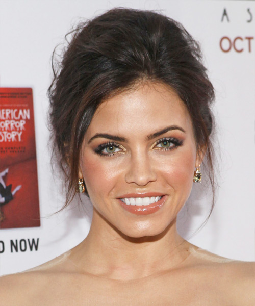 Jenna Dewan Straight Casual Updo Hairstyle - Medium Brunette Hair Color