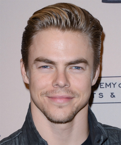 Derek Hough Short Straight Formal Hairstyle - Light Brunette (Caramel) Hair Color