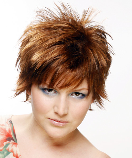 Short Straight Alternative Hairstyle (Auburn)