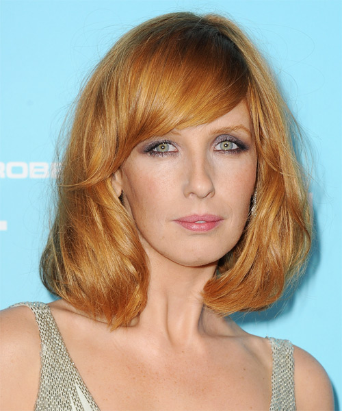 Kelly Reilly Medium Straight Hairstyle - Medium Red (Ginger)