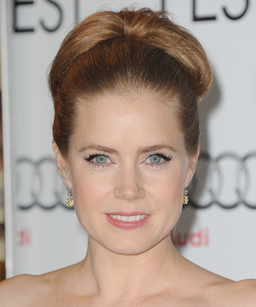 Amy Adams Straight Formal Updo Hairstyle - Light Brunette (Caramel) Hair Color