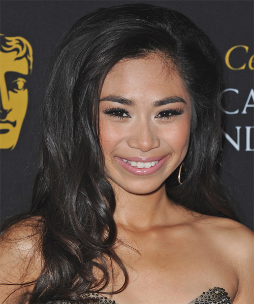 Jessica Sanchez Long Wavy Hairstyle