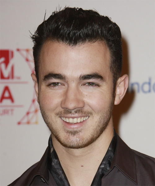 Kevin Jonas Short Straight Formal Hairstyle - Dark Brunette Hair Color