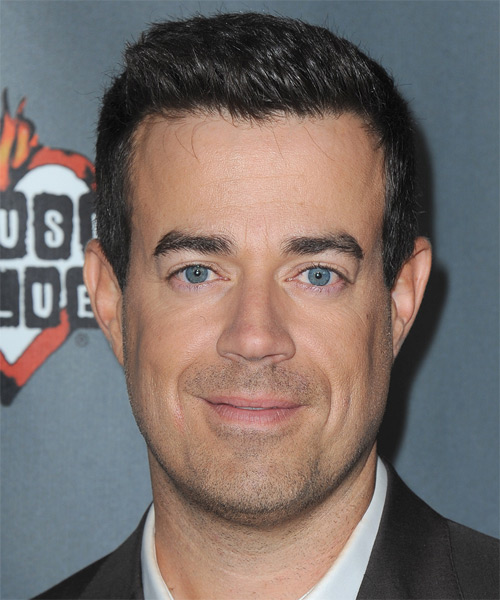 Carson Daly Short Straight Casual Hairstyle - Black Hair Color