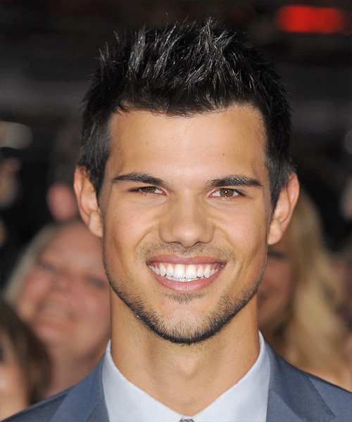 Taylor Lautner Short Straight Hairstyle - Black (Ash)