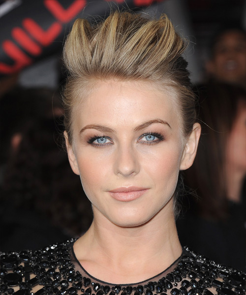 Julianne Hough Casual Straight Updo Hairstyle - Dark Blonde