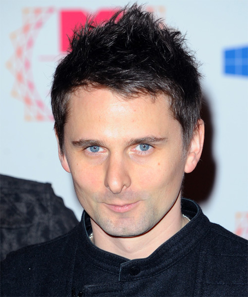 Matthew Bellamy  Short Straight Casual Hairstyle - Dark Brunette Hair Color