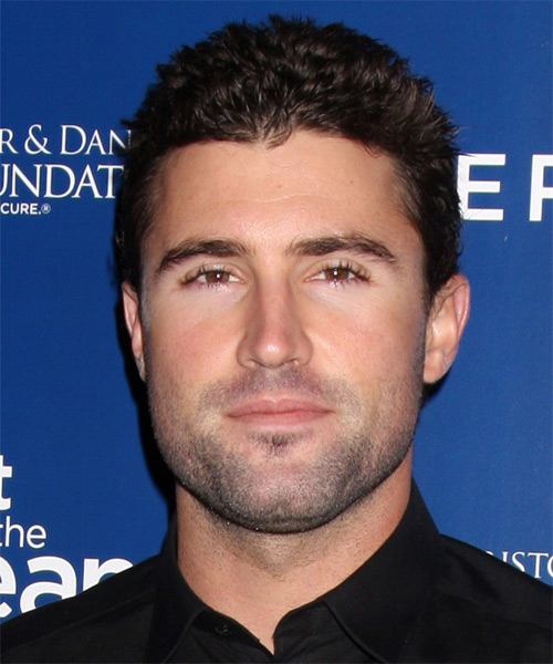 Brody Jenner Short Straight Hairstyle - Dark Brunette
