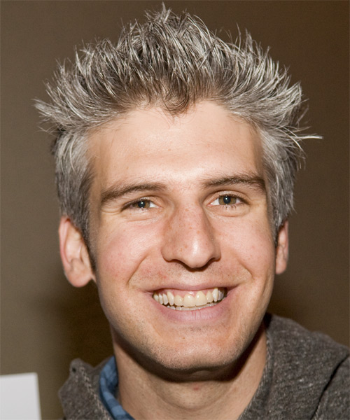 Max Joseph Short Straight Hairstyle - Medium Grey