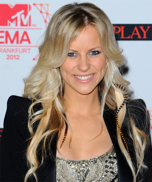 Romina Long Wavy Hairstyle - Medium Blonde