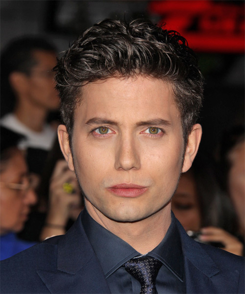 Jackson Rathbone Short Wavy Casual Hairstyle - Dark Brunette Hair Color