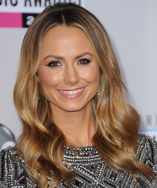 Stacy Kiebler Long Wavy Casual Hairstyle - Dark Blonde (Honey) Hair Color