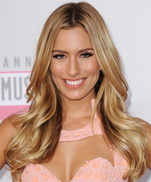 Renee Bargh Long Straight Hairstyle - Medium Blonde (Honey)