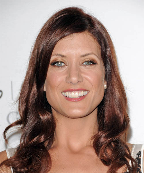 Kate Walsh Long Wavy Red hairstyle - Olive Skin Tone
