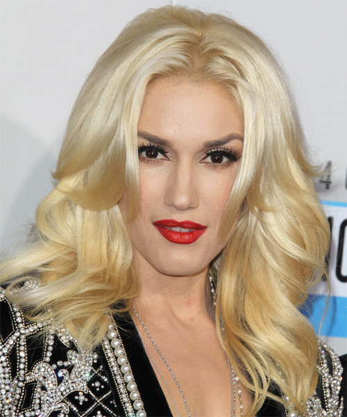 Gwen Stefani Long Straight Hairstyle - Light Blonde
