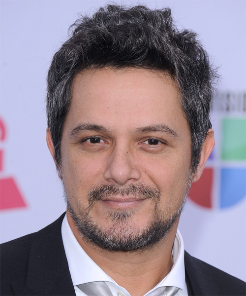 Alejandro Sanz  Short Straight Casual Hairstyle - Dark Grey Hair Color