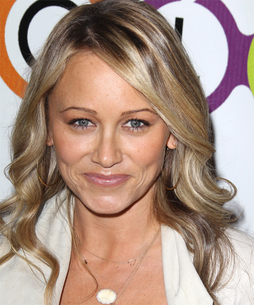 Christine Taylor Long Wavy Hairstyle - Medium Blonde (Caramel)