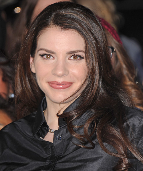 Stephenie Meyer Long Straight Hairstyle - Dark Brunette