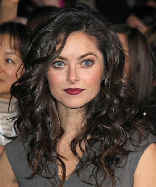 Brooke Lyons Long Wavy Casual Hairstyle - Dark Brunette Hair Color