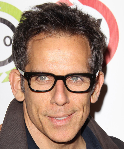 Ben Stiller Short Straight Hairstyle - Medium Brunette (Chocolate)