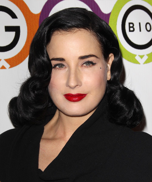 Dita Von Teese Medium Wavy Formal Hairstyle